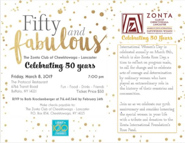 Fabulous & Fifty, March 8th