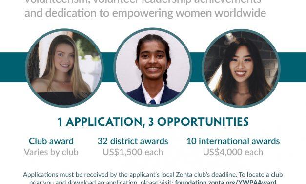 Zonta International & D4 2019 YWPA Winner Amal Qayum