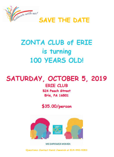 ZC of Erie Celebrating 100 Years