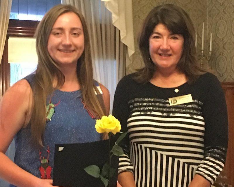 ZC of Jamestown announces the Mary Bargar Scholarship financial award winner