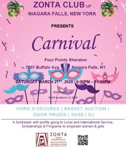 Niagara Falls, NY Carnival Fundraiser Poster