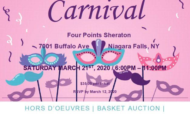 ZC of Niagara Falls, NY Presents Carnival Mar. 21st