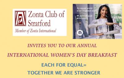 ZC of Stratford Invites You to IWD Breakfast Mar. 6th