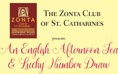 Donating to ZC of St. Catharines Afternoon Tea, Sun. Apr. 26th.