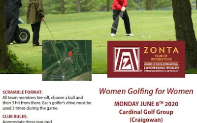 Zonta Woodstock Golf Classic June 8th